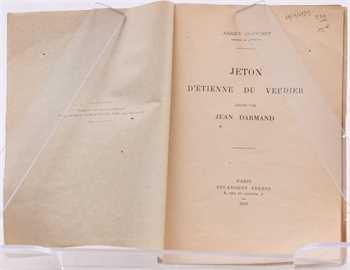 Blanchet (A.), Jeton d'Etienne du Verdier gravé par Jean Darmand, Paris 1923
