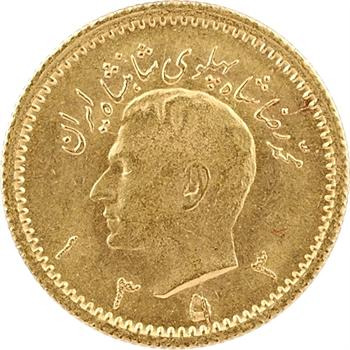 Iran, Reza Shah, 1/4 pahlavi, SH 1353 (1974)