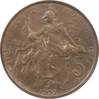 IIIe République, 5 centimes Daniel-Dupuis, 1902 Paris