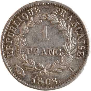 Premier Empire, 1 franc République, 1808 Limoges