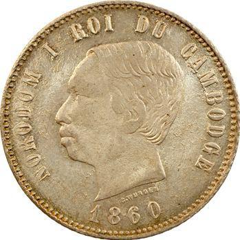 Cambodge, Norodom Ier, quatre francs, 1860 Bruxelles