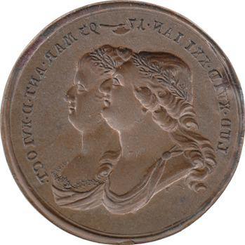 Convention, Louis XVI et Marie Antoinette, matrice de médaille, 1793 Allemagne