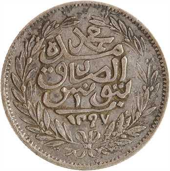 Tunisie, Mohammed el-Sadik, 1 piastre, AH 1297 (1879) Tunis
