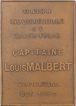 IVe République, Union Industrielle et Maritime, le navire Capitaine Malbert, par Beaufils, 1950 Paris