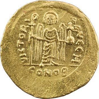 Maurice Tibère, solidus, Constantinople, 8e officine, 582-602