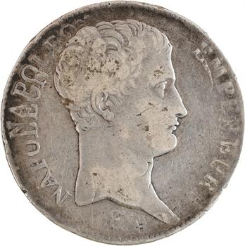 Premier Empire, 5 francs tête nue, calendrier révolutionnaire, An 13 Paris variété frappes multiples