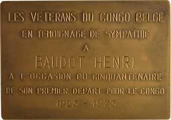 Congo belge, L'effort, par Vriens, 50aire du premier départ au Congo, 1934 (1923-1973) Bruxelles (Fonson)