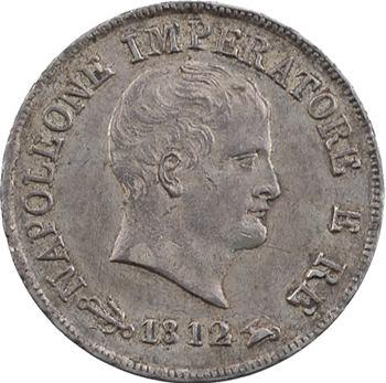 Italie, Napoléon Ier, 10 soldi tranche en creux, 1812 Venise/Milan