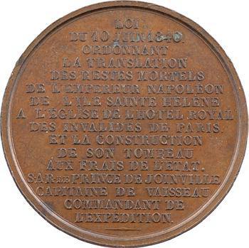Louis-Philippe Ier, translation des cendres de Napoléon Ier par Joinville, 1840 Paris
