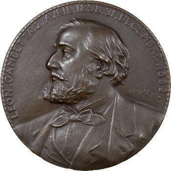 Roty (L.-O.) : Léon Gambetta, 1882 Paris