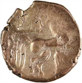 Pictons, statère d'or bas titre dit «à la main», c.80-50 av. J.-C