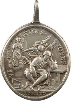 Italie, médaille religieuse de Loreto (Lorette) au Saint Joseph, s.d