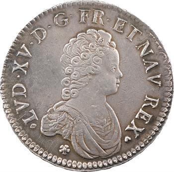 Louis XV, écu dit Vertugadin, 1716 Aix-en-Provence
