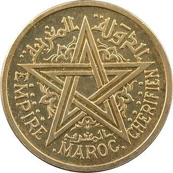 Maroc, Mohammed V, essai-piéfort de 2 francs, AH 1364 (1945) Paris