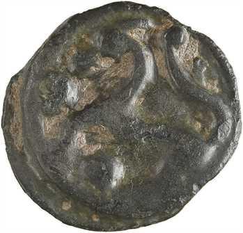 Sénons, potin dit «à la tête d'indien», c.52 av. J.-C.
