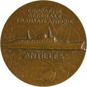 Delamarre (R.) : Cie Gale Transatlantique, paquebot Antilles, s.d. Paris