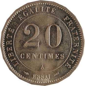 IIIe République, essai de 20 centimes Merley, 1887 Paris