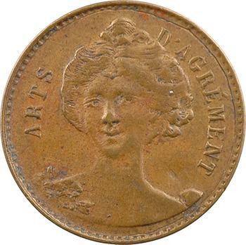 IIIe République, jeton de maison close, Mme Blanchette (Lyon), s.d