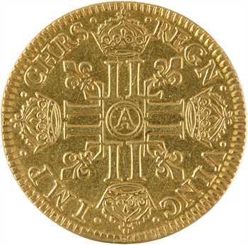 Louis XIV, louis d'or à la mèche courte, 1644 Paris