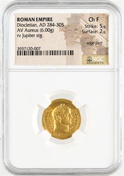 Dioclétien, aureus, Rome, 284-286, NGC Choice Fine 5/5 – 2/5