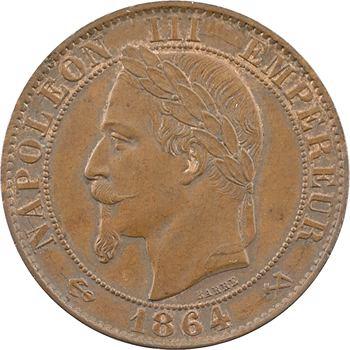 Second Empire, cinq centimes tête laurée, 1864 Bordeaux