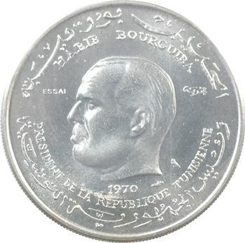 Tunisie (République de), essai de 1 dinar, 1970