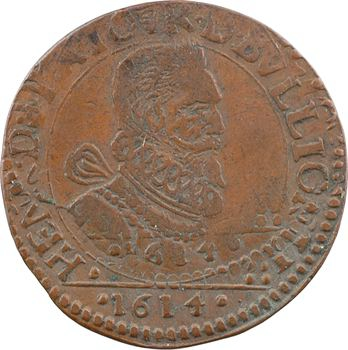 Sedan (principauté de), Henri de La Tour, liard 6e type (G), 1614 Raucourt
