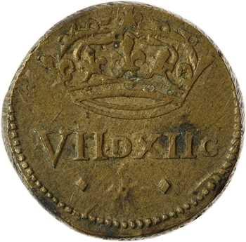 Philippe IV le Bel à Henri IV, poids monétaire du 1/4 écu, 7 deniers 12 grains, s.d