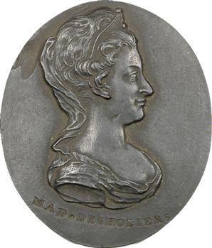 Des Houlières (Antoinette), médaillon en porcelaine de Wedgwood