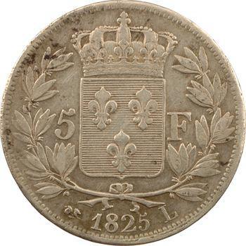 Charles X, 5 francs 1er type, 1825 Bayonne