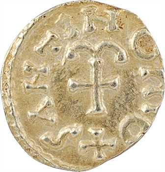Aquitaine, Salon-de-Vergt (Dordogne) [ou Neustrie, Salonne (Moselle)], trémissis du monétaire Santino, c.600-650