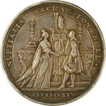 Louis XV, mariage du Roi avec Marie Leszczynska, par Norbert et Joseph-Charles Roëttiers, 1725 Paris