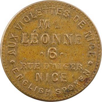 IIIe République, jeton de maison close, Mme Léonne (Nice), s.d