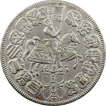 Allemagne, Ordre teutonique, Maximilien d'Autriche, thaler, 1603 Hall