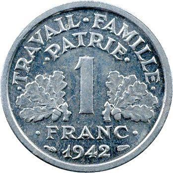 État Français, essai de 1 franc francisque, 1942 Paris