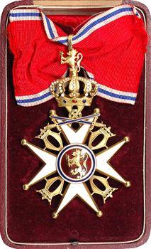 Norvège, grand croix de l'Ordre de Saint Olaf en or