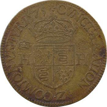 Blois, Henri III, jeton de la chambre des comptes, 1575