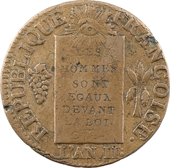 Convention, sol aux balances, sans différents, 1793 Lyon ou Dijon