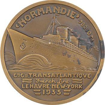 IIIe République, Compagnie Générale Transatlantique (C.G.T.), le paquebot Normandie, par Jean Vernon, 1935 Paris