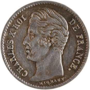 Charles X, 1/4 de franc, 1830 Paris