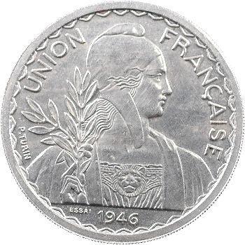 Indochine, essai de 1 piastre, 1946 Paris