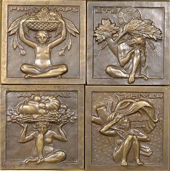 Dropsy (H.) : les saisons, lot de 4 plaquettes, s.d. (1927) Paris
