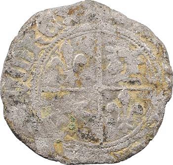Dauphiné, Viennois (dauphins du), Charles II dauphin et Roi (Charles VI), demi-blanc delphinal, s.d. (après 1389) Mirabel