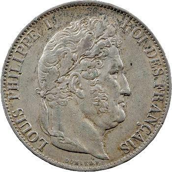 Louis-Philippe Ier, 5 francs IIIe type Domard, 1846 Bordeaux