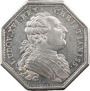 Louis XVI, jeton au chiffre du Roi, par Duvivier, s.d. Paris