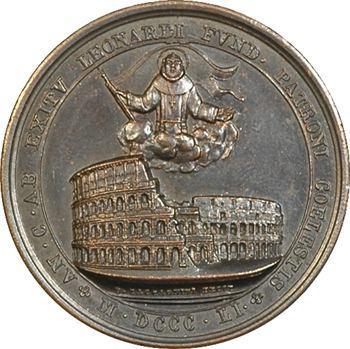 Vatican, Pie IX, l'amphithéâtre flavien par Zaccagnini, 1851
