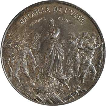 Allouard (H.) : La bataille de l'Yzer, en argent, 1916 Paris