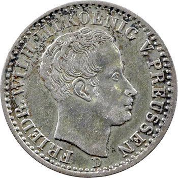 Allemagne, Prusse (royaume de), Frédéric-Guillaume III, sixième de thaler, 1826 Düsseldorf