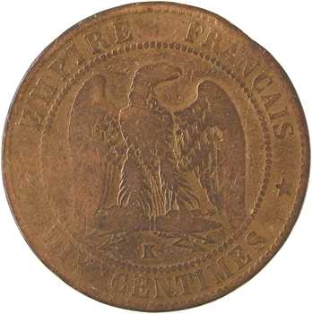 Second Empire, dix centimes tête nue, 1857 Bordeaux