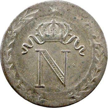 Premier Empire, 10 centimes à l'N couronnée, 1809 Rouen